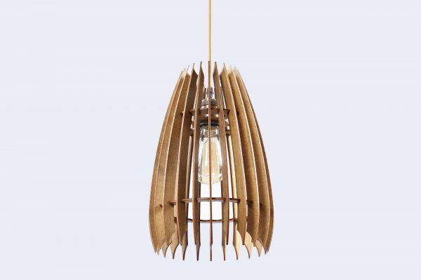 Jennifer Original Wooden Modern Pendant Light Chandelier nut color bottom view