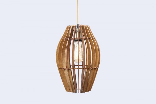 Mary Original Wooden Modern Pendant Light Chandelier nut color front second view