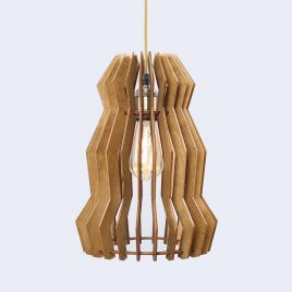 Melissa Original Wooden Modern Pendant Light Chandelier nut color front second view