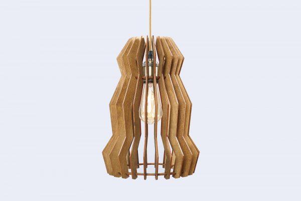 Melissa Original Wooden Modern Pendant Light Chandelier nut color front second view