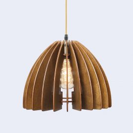 Monica Original Wooden Modern Pendant Light Chandelier nut color front second view