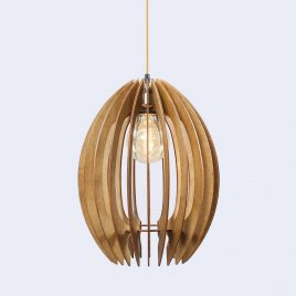 Olivia Original Wooden Modern Pendant Light Chandelier nut color front second view