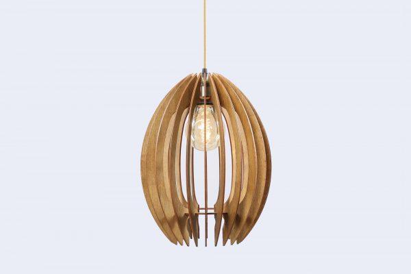 Olivia Original Wooden Modern Pendant Light Chandelier nut color front second view