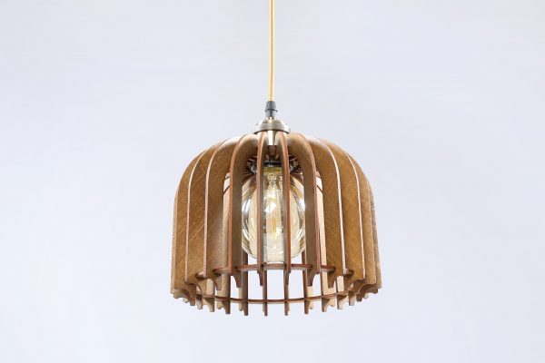 Rose Original Wooden Modern Pendant Light Chandelier nut color bottom view