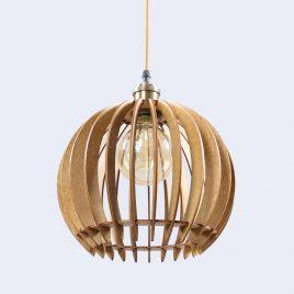 Sophia Original Wooden Modern Pendant Light Chandelier nut color bottom view