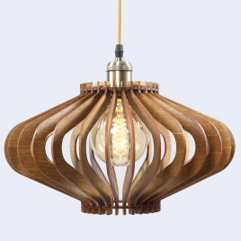 Vivian Original Wooden Modern Pendant Light Chandelier nut color frotn second view