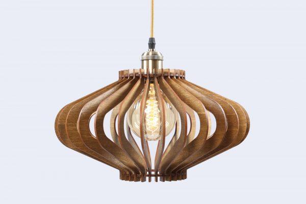 Vivian Original Wooden Modern Pendant Light Chandelier nut color frotn second view