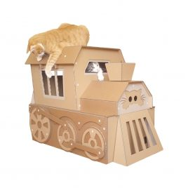 Cat Express Cardboard Cat House
