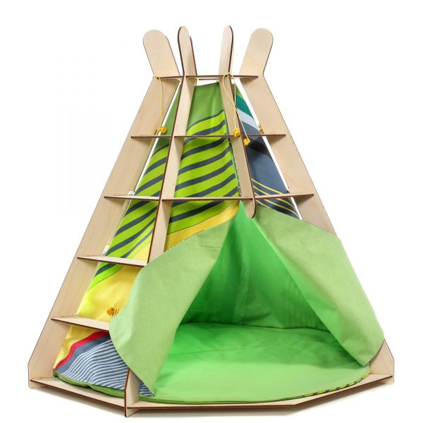 TeePee Cat Wooden Craft Bed