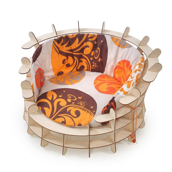 Amphitheater Cat Wooden Craft Bed with pillow